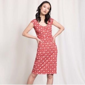 Boden Margot Jersey Dress Snapdragon Collage Print